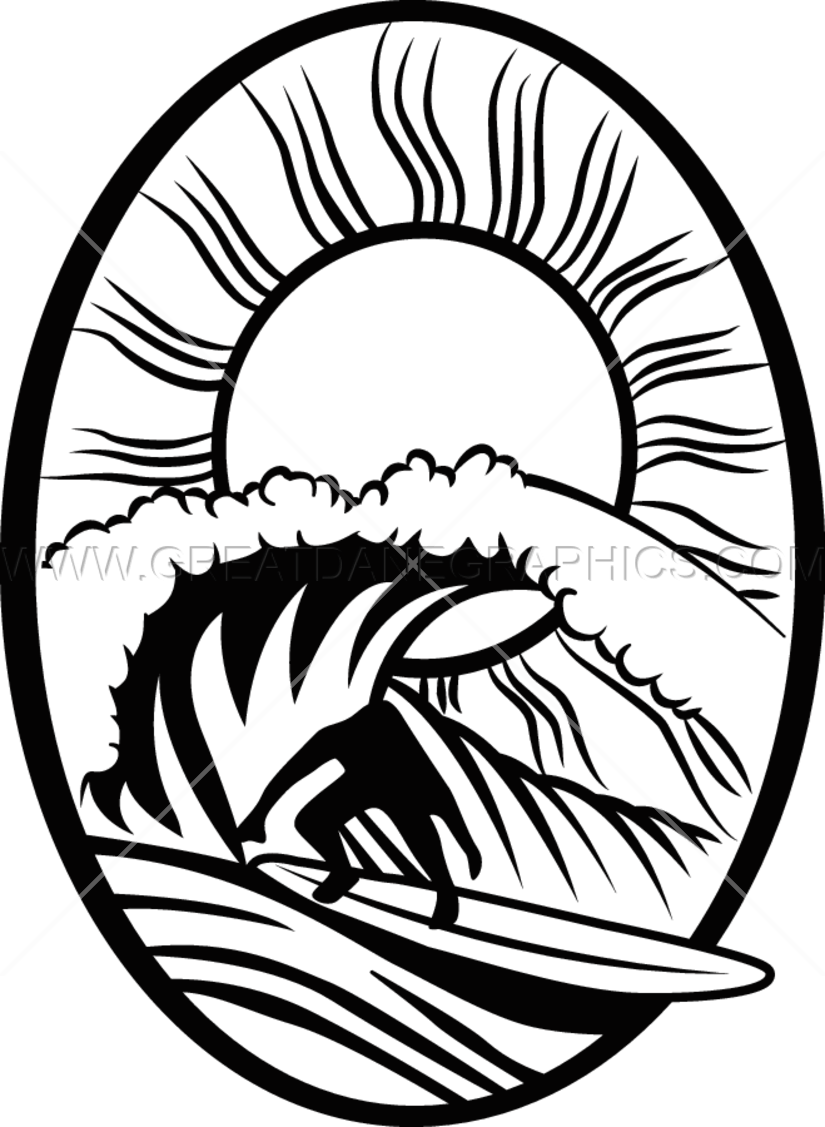 vector stock Surfer drawing. Tribal production ready artwork