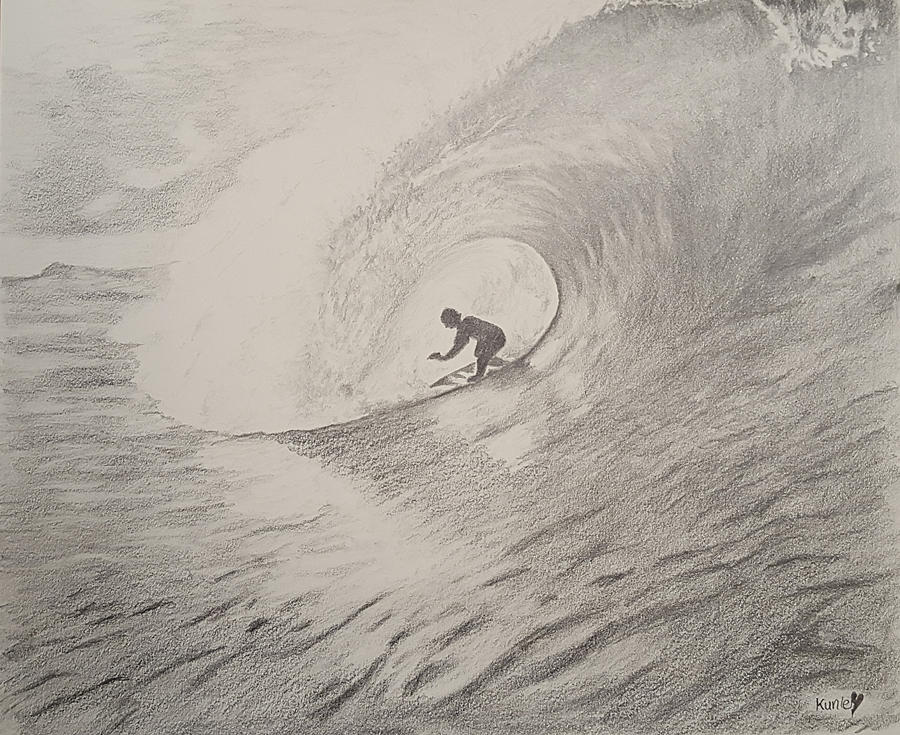 image library stock The . Surfer drawing