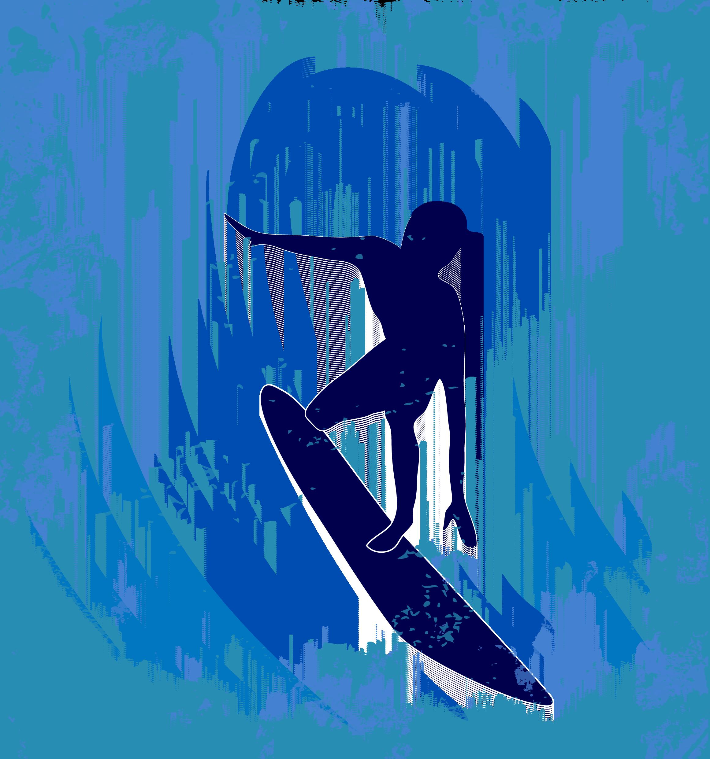 image freeuse Big wave surfing Wind wave Illustration