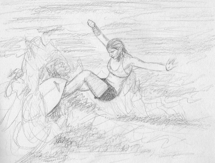 image royalty free download Surfer Girl Sketch at PaintingValley