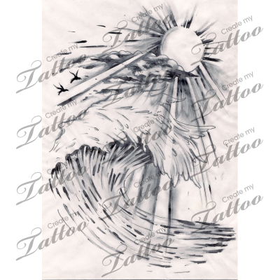 clip art library library Marketplace Tattoo Wave