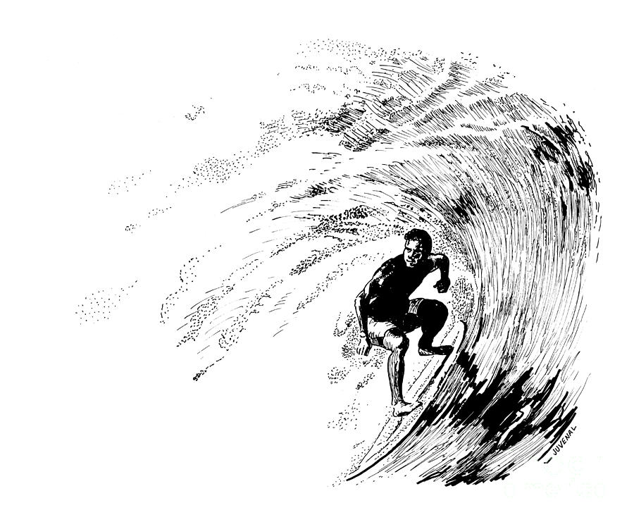 banner stock Shooting . Surfer drawing