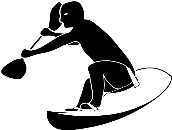 graphic freeuse download Surfing clipart thing. Paddle surfer clip art