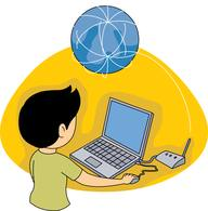 image stock Surfing the web clipart. Free internet cliparts download