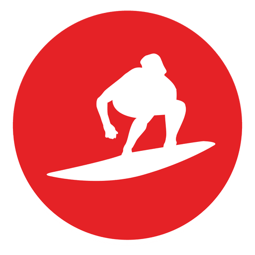 picture royalty free stock Surfing circle icon