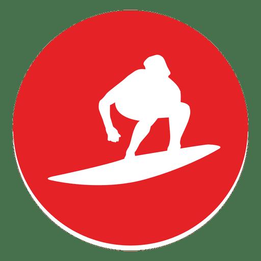 svg transparent stock Surfing circle icon