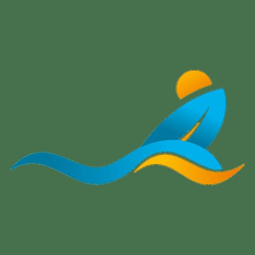 image freeuse Wave surfing beach logo