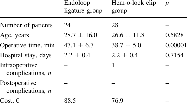 picture free stock Characteristics of endoloop and hem