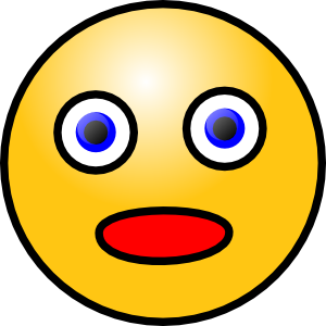 jpg royalty free Shocking face free on. Surprise clipart awe