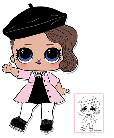 banner freeuse library LOL Surprise Doll Coloring Pages