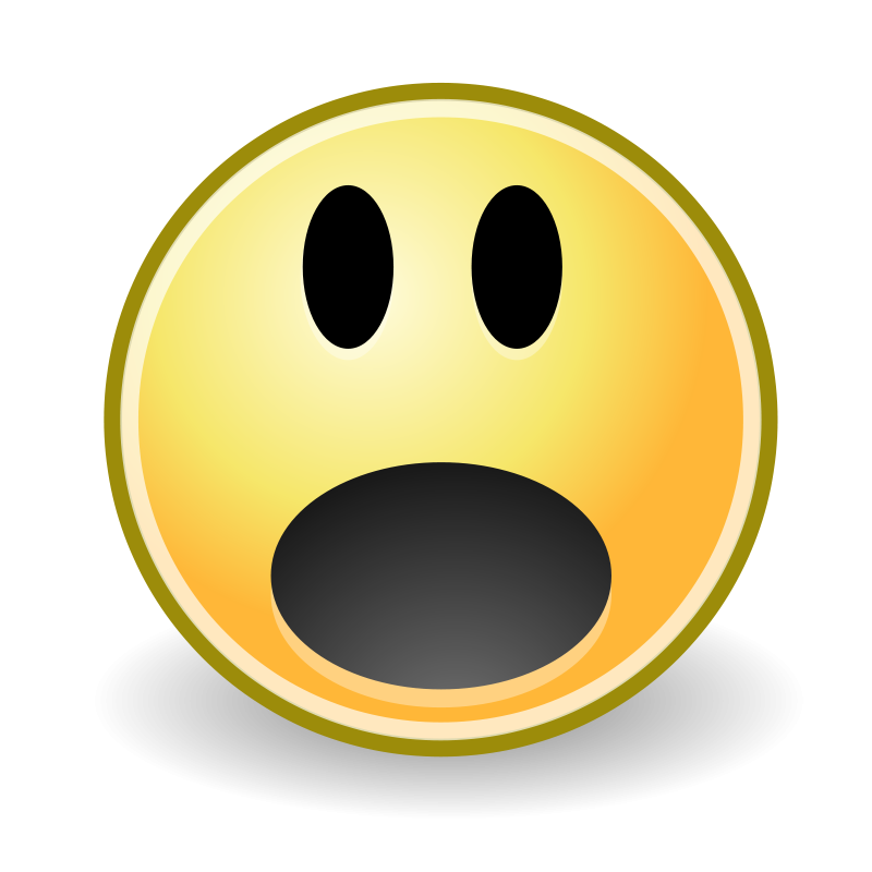 svg library download Surprised Cartoon Face