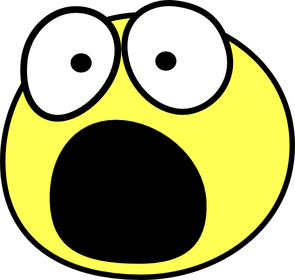 graphic black and white stock Shocked Clipart Group
