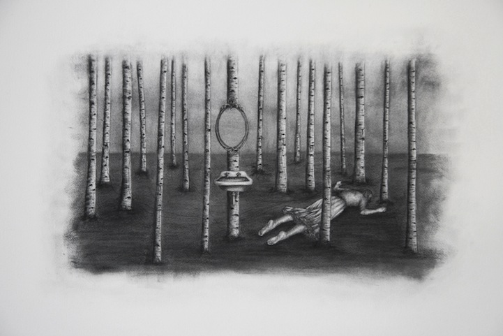 graphic freeuse Drawing charcoal surreal. Mysteriously drawings