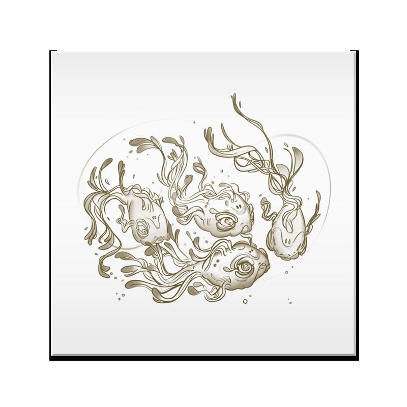 banner black and white download Azulejo Fish Dream de Maur