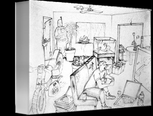 jpg royalty free Messy Room Self Portrait by Tobin Springs