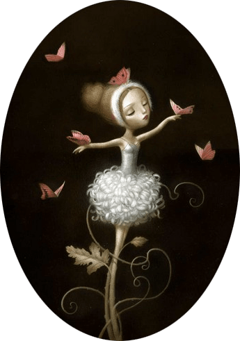 picture black and white download Surrealist Fairy Tale Illustrations by Nicoletta Ceccoli