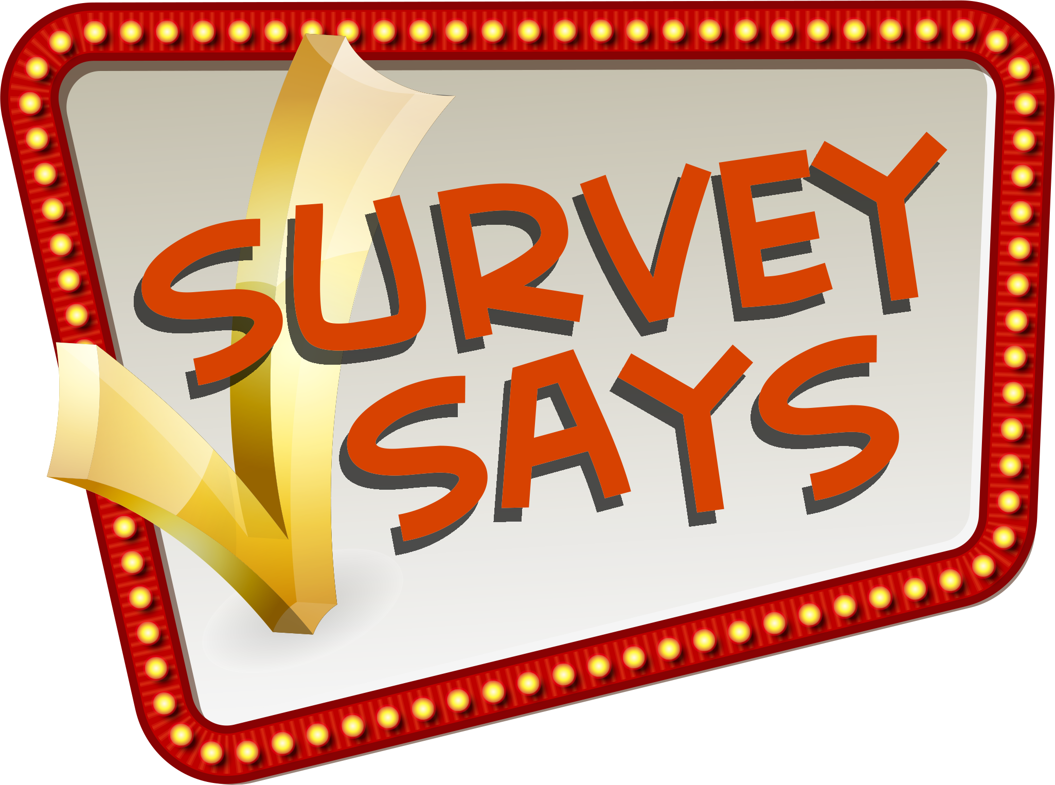 image royalty free library Television show trivia methodology. Survey clipart