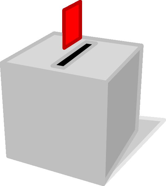 stock Ballot box clip art. Survey clipart voting.
