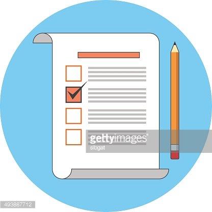 svg freeuse Survey clipart voting. Review flat premium clipartlogo.