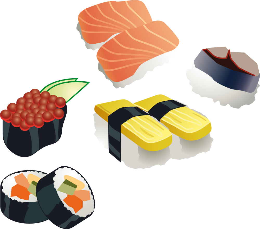 vector stock Sushi clipart. Clip art panda free