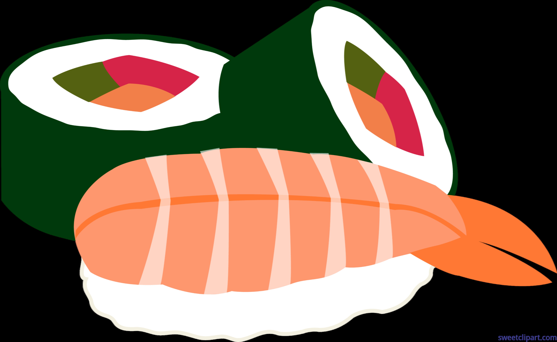 download Sushi clipart. Rolls futomaki ebi clip