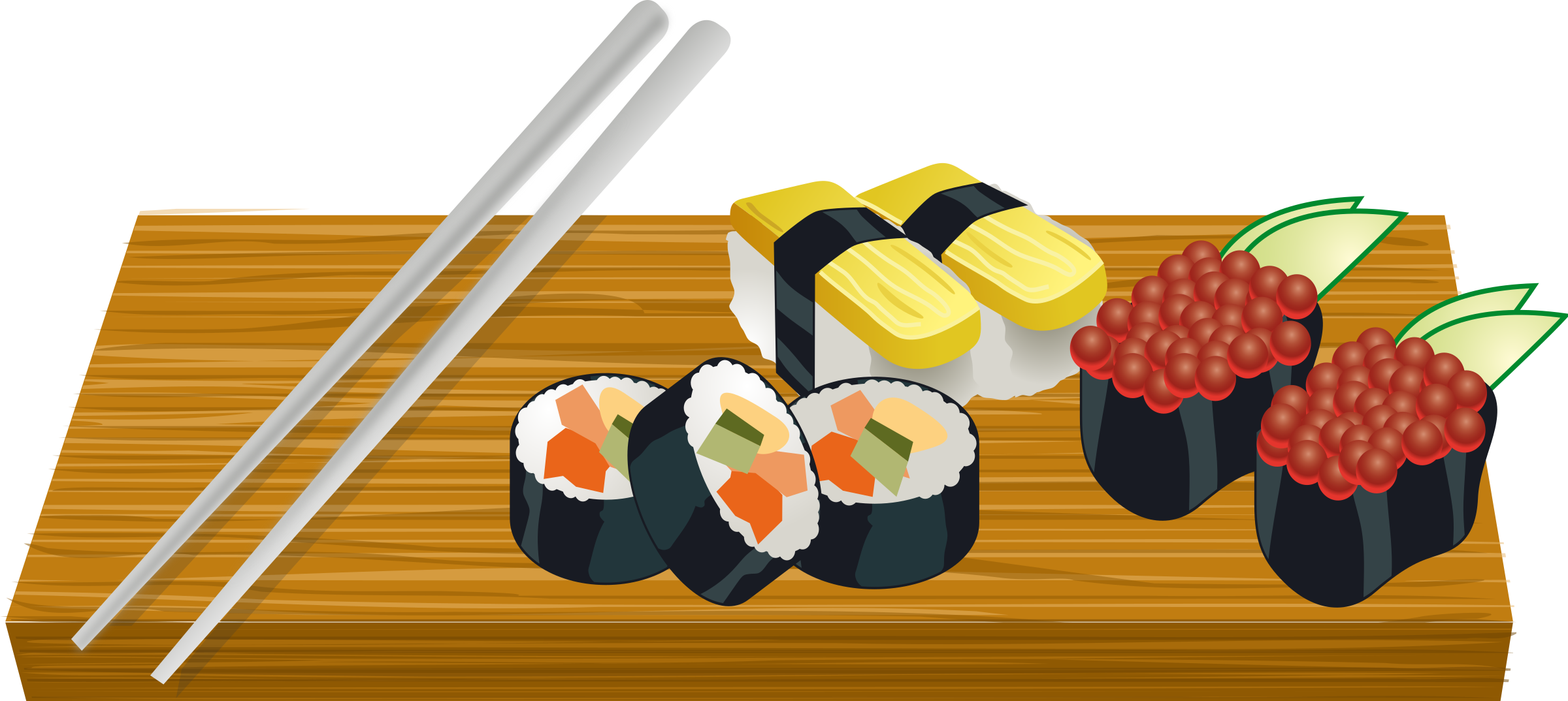 svg download Sushi clipart. On a board big