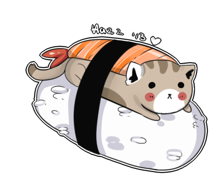 jpg royalty free Sushi Cat by WanNyan on DeviantArt