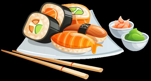 image library Sushi png image love. Chopsticks clipart restaurant japanese.