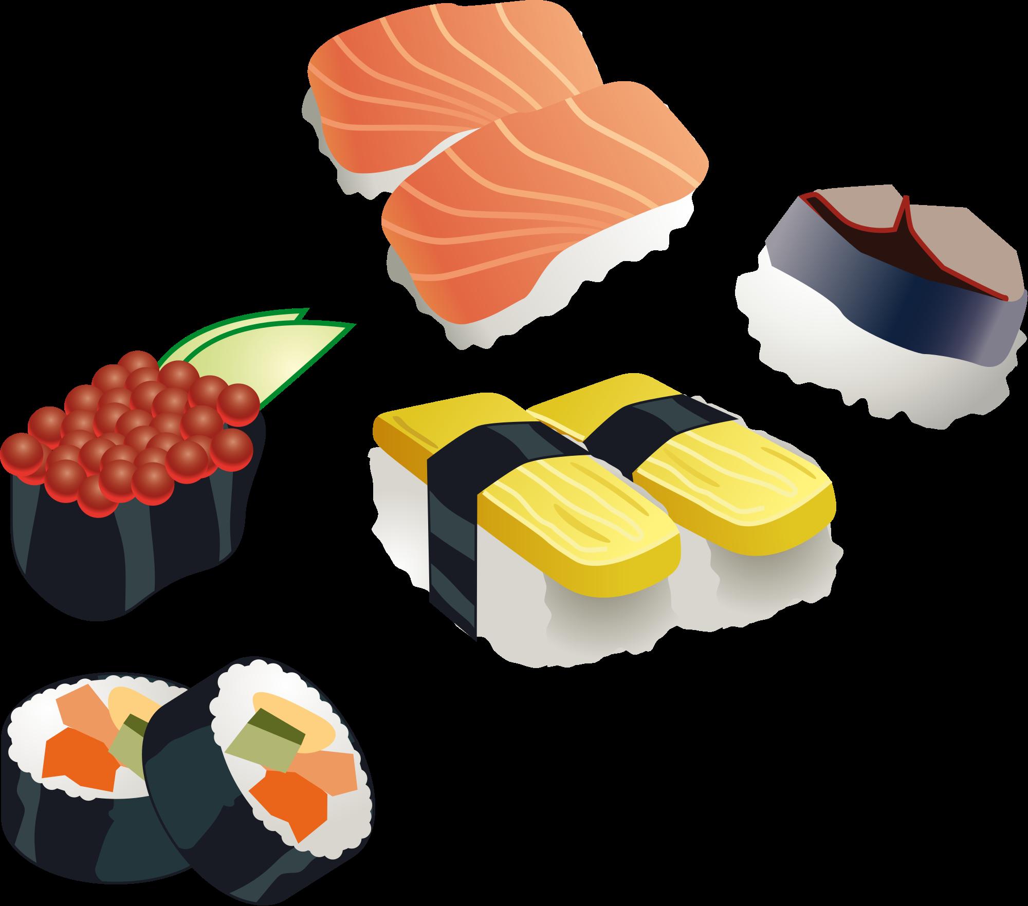 jpg black and white download Sushi clipart pdf. File set svg wikimedia