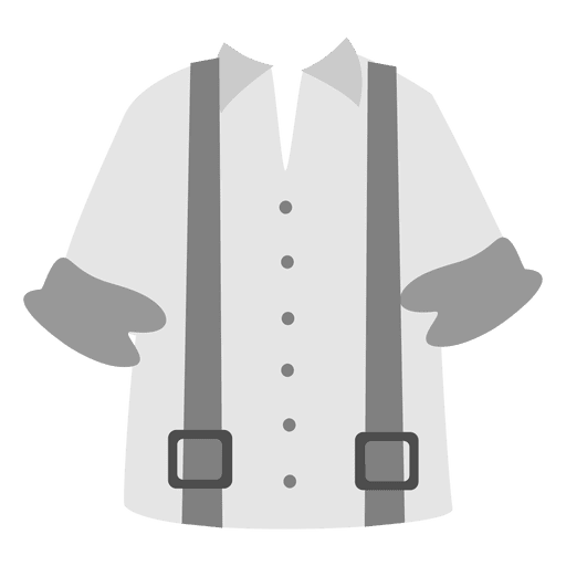 clip art black and white White suspender men shirt