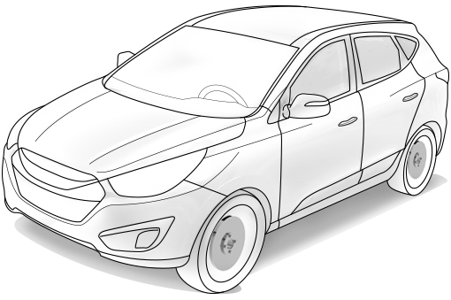 clipart freeuse stock Hyundai new thinking possibilities. Suv drawing.