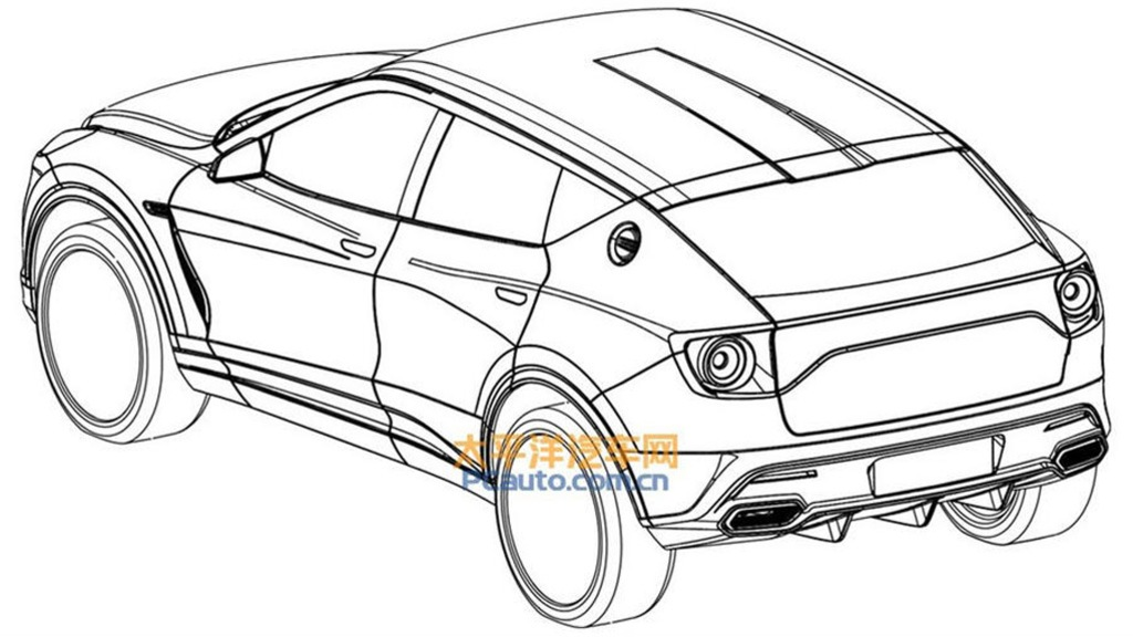 vector library Suv drawing. Lotus may have been.
