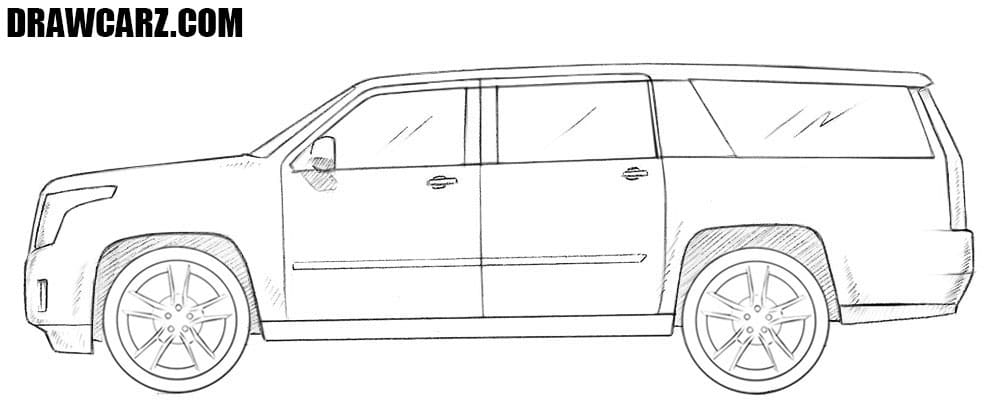 free library Suv drawing. How to draw a.