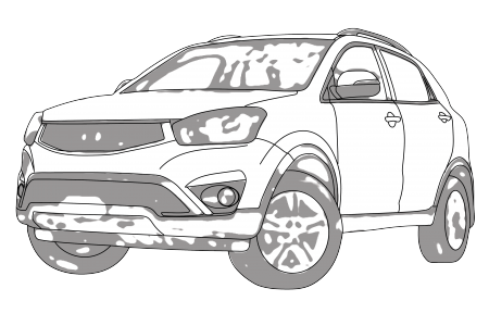 clip download Ssangyong korando aerpro . Suv drawing.