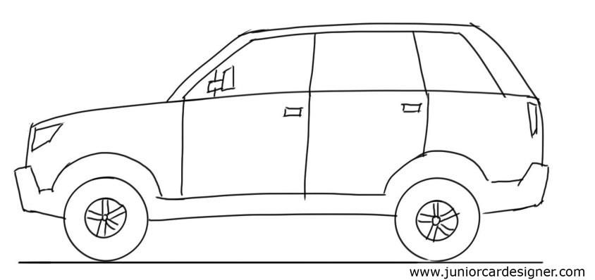 png transparent stock Car tutorial side view. Suv drawing.