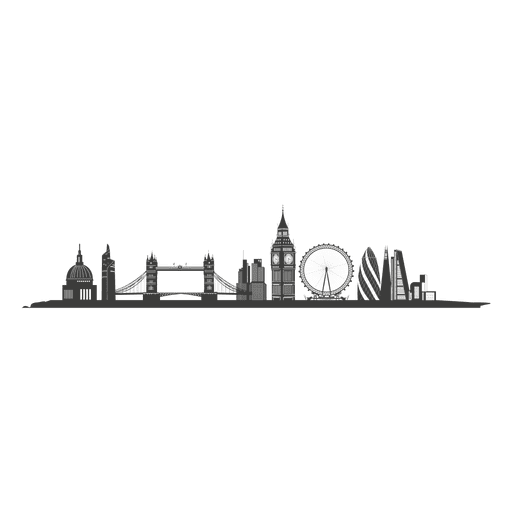 jpg library download Svg backgrounds silhouette. London skyline transparent png
