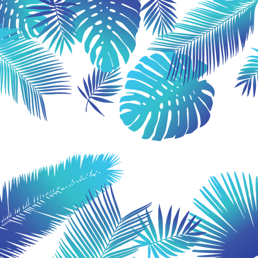 svg transparent download Blue tropical leaves background