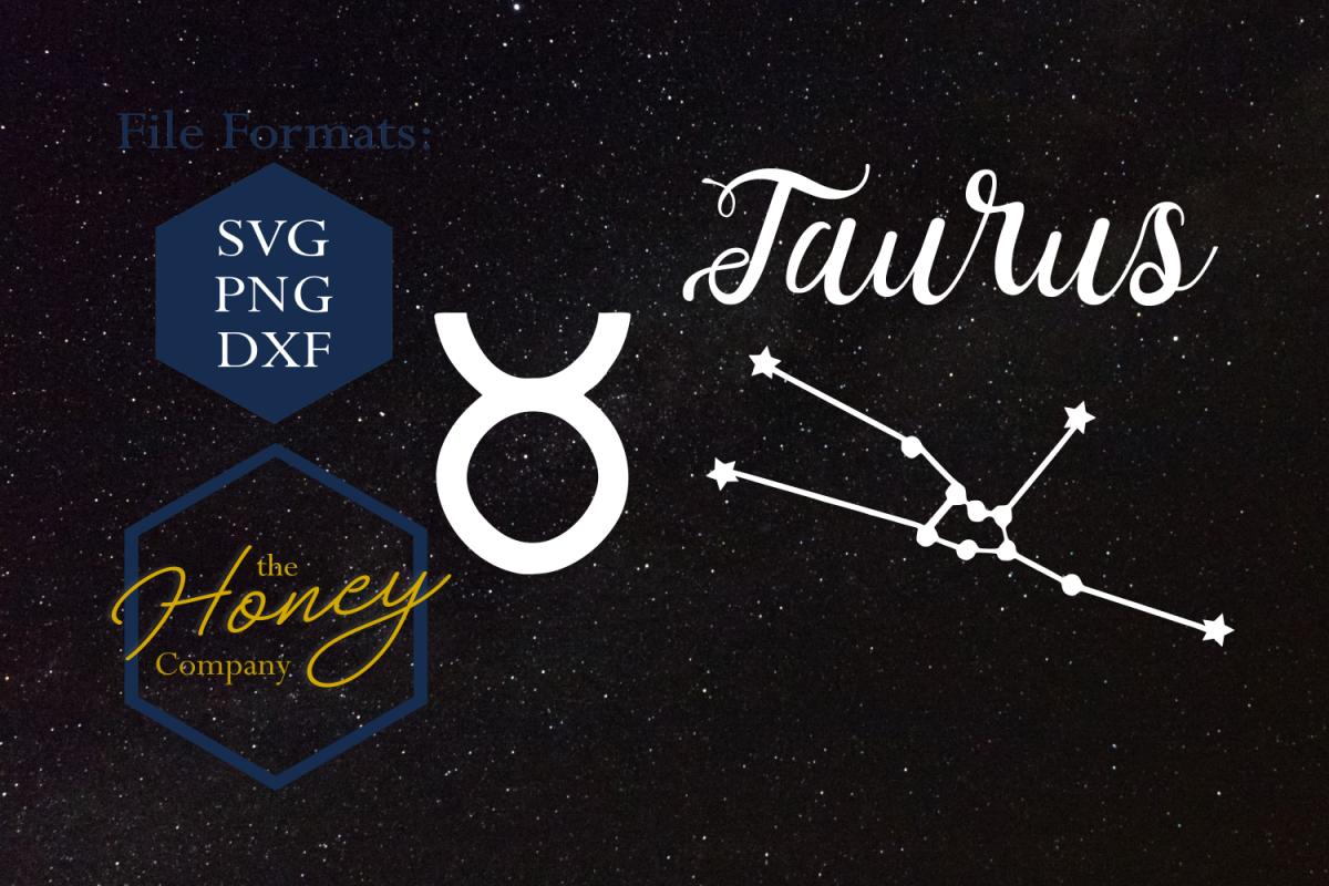 clip stock Taurus SVG PNG DXF Zodiac Cutting File