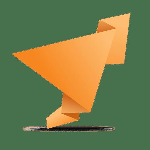 freeuse stock Orange folded origami banner