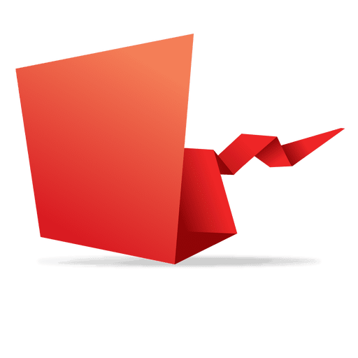 clipart royalty free library Red origami paper banner