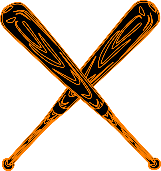 banner library Bat art at clker. Baseball clip svg