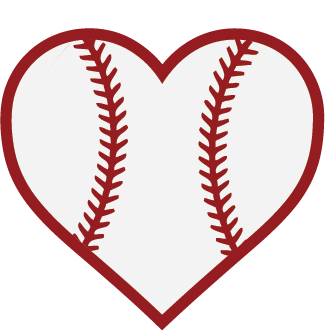 image black and white download Baseball heart
