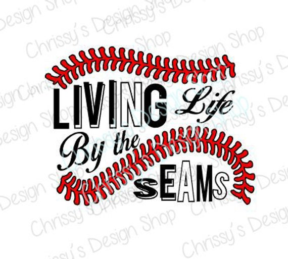 clip art freeuse library Svg baseball life. Living by the seams