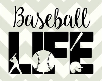 picture free stock Etsy . Svg baseball life