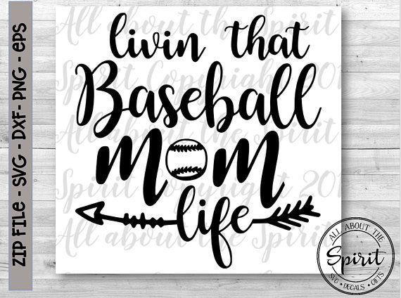 jpg transparent library Svg baseball life. Mom cricut silhouette dxf