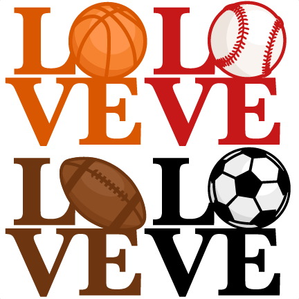 svg royalty free Love Sports Titles SVG scrapbook cut file cute clipart clip art