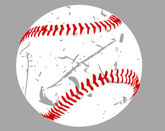 clipart transparent Distressed baseball svg