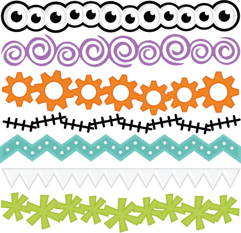 png free Monster files for scrapbooking. Svg borders