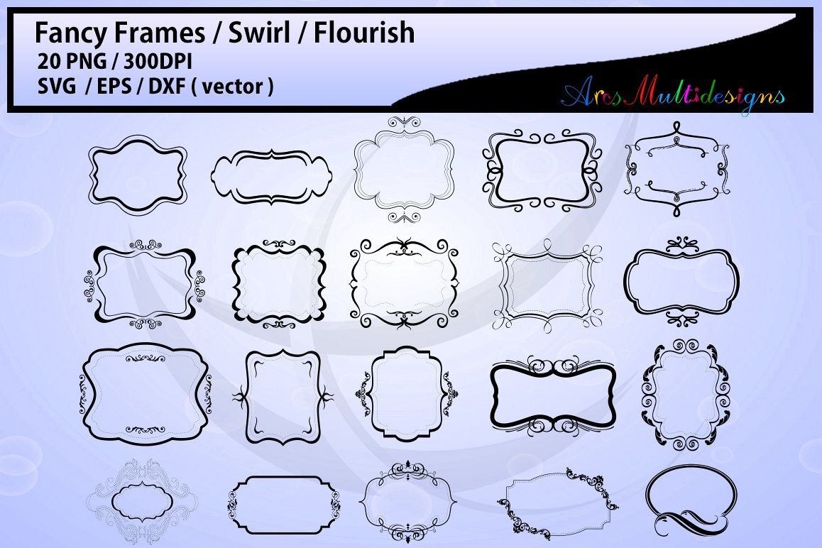 clip royalty free download Fancy frames labels eps. Svg borders.