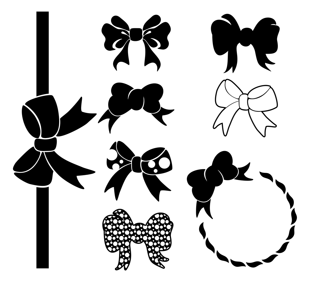 graphic royalty free library Svg bow. Girls ribbon cut files